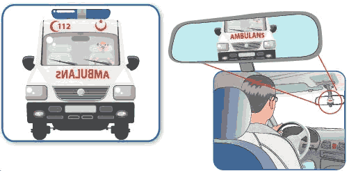 Ambulans yazısı neden ters yazılır ?