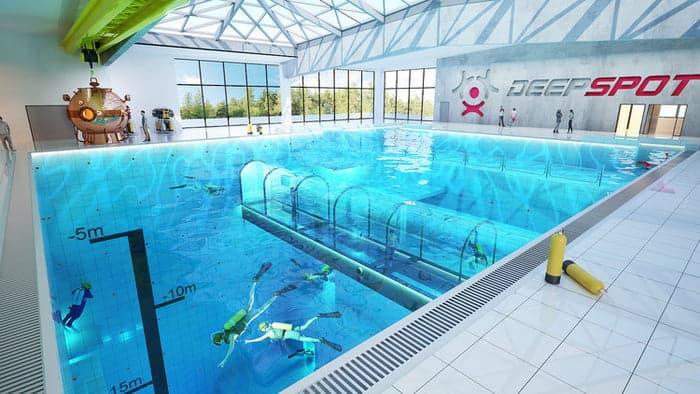 Deepspot en derin yüzme havuzu