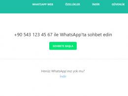 Whatsapp kaydetmediğiniz numaraya mesaj gönder